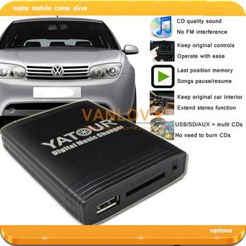 YATOUR Digital Music Changer USB SD AUX MP3 Interface for VW Radios: Alpha 5 / Beta 5 / Gamma 5 / Rhapsody / New Beetle Gamma CD