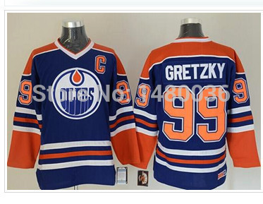 2014 New Men's Oilers#99 Wayne Gretzky Jersey Light Blue,white Throwback Stitched Icehockey Jersey,Size M-3XL(China (Mainland))