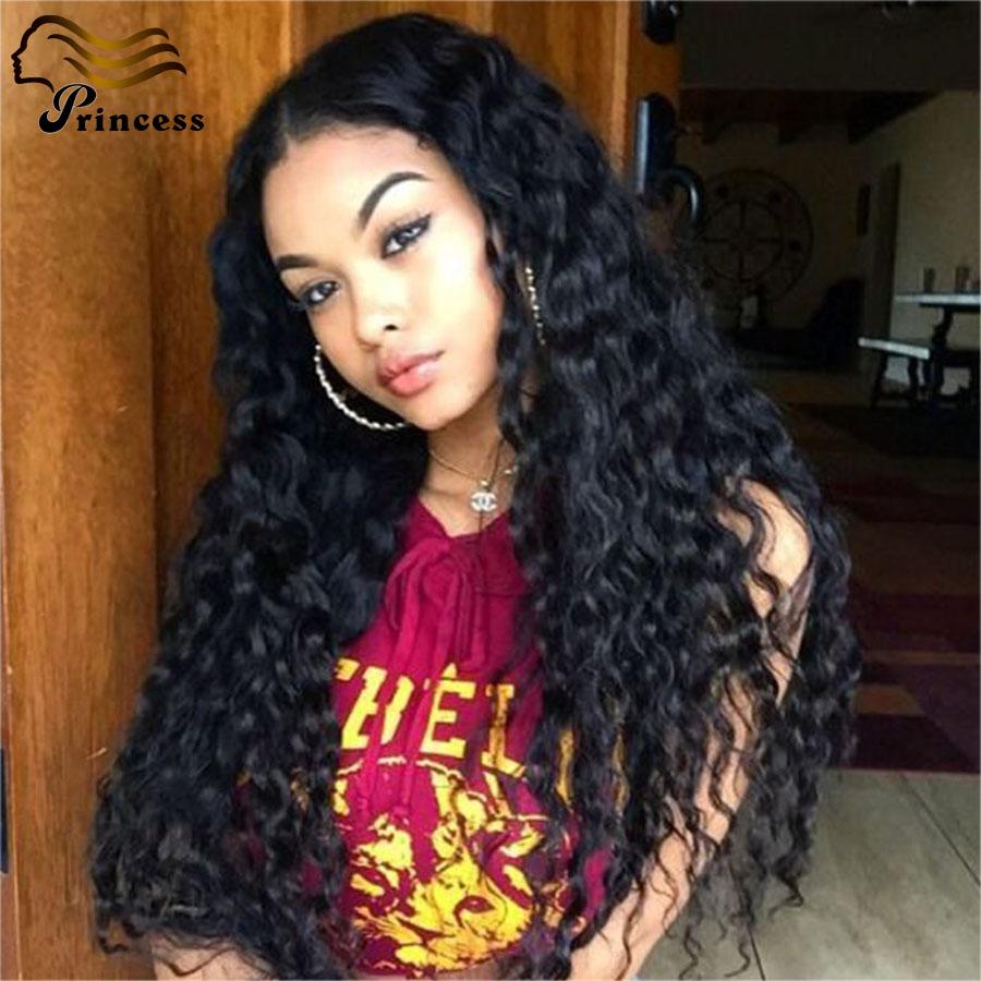Фотография 7A Glueless Full Lace Human Hair Wigs Brazilian Virgin Hair Deep Wave Lace Front Wig Human Hair Lace Front Wigs For Black Women
