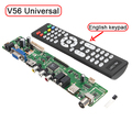 Support 7 55 V56 Universal LCD TV Controller Driver Board PC VGA HDMI USB Interface USB