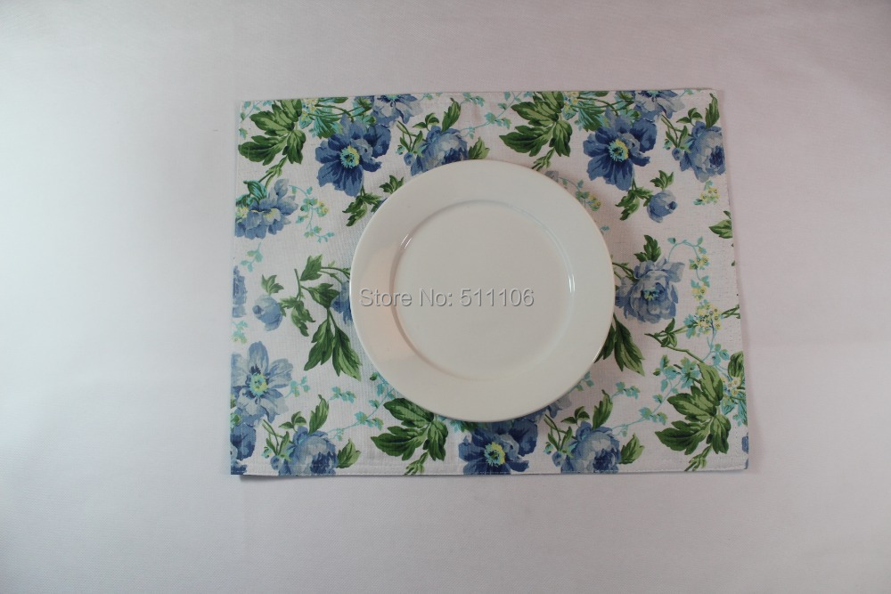 Free Shipping Cotton Placemat &Napkin Promotional Table Mat Made In China(China (Mainland))