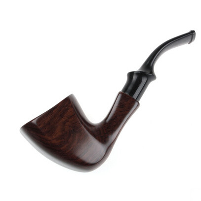 Hot Handmade ebony filter pipe tobacco smoking accessories Bent Style W Gift bag wooden Smoke pipe