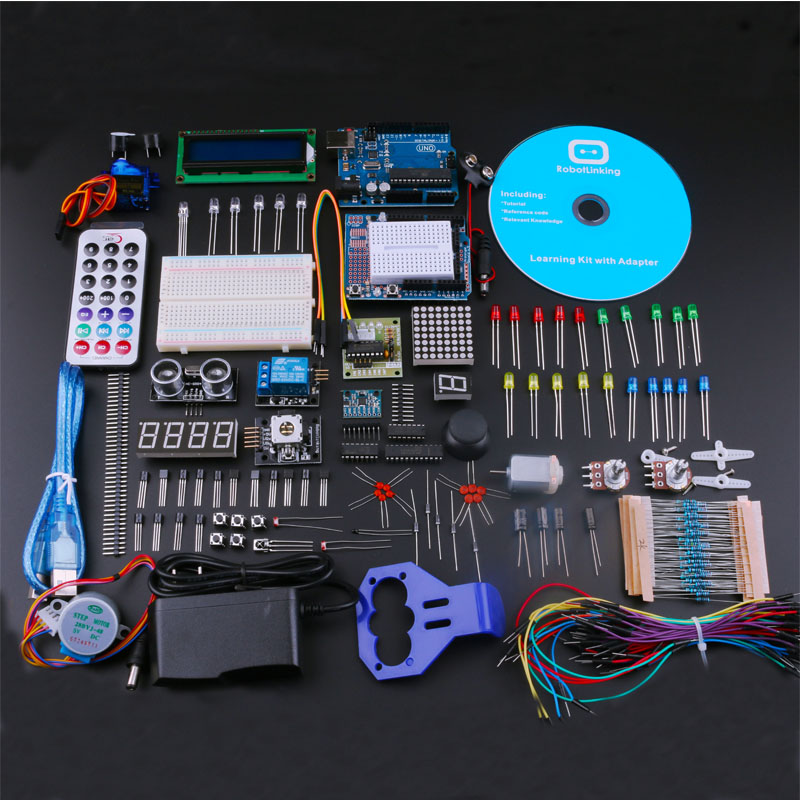 The Best RFID Starter Kits For Arduino Uno R3 With Tutorial / Power Supply Learning Kit US Plug(China (Mainland))