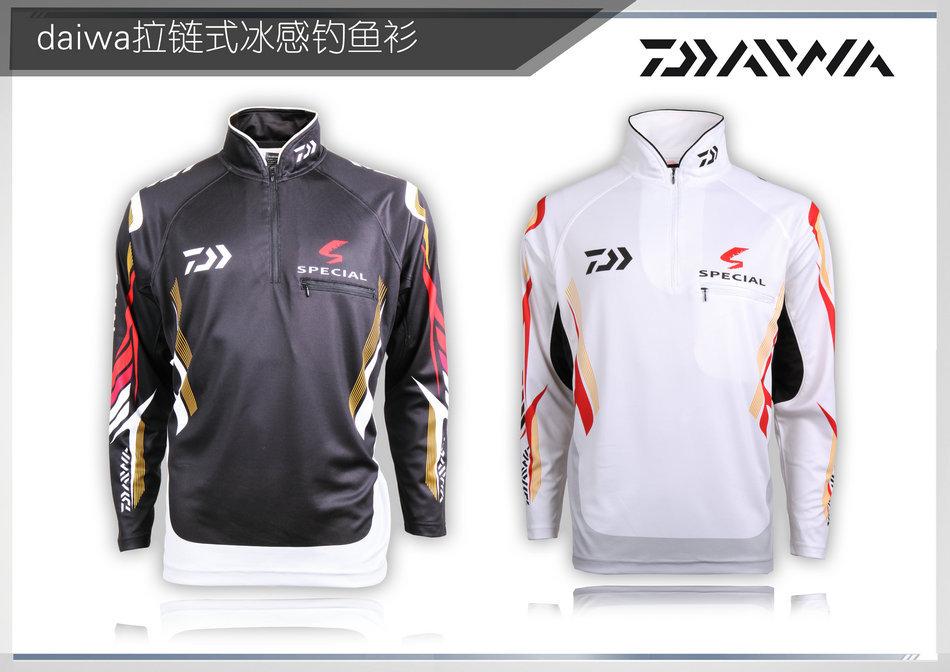 Fishing Clothes DAIWA Sunscreen Sun Protection Quick Dry Clothing Black/White 2 Color Long Sleeve Daiwa Fishing Clothes