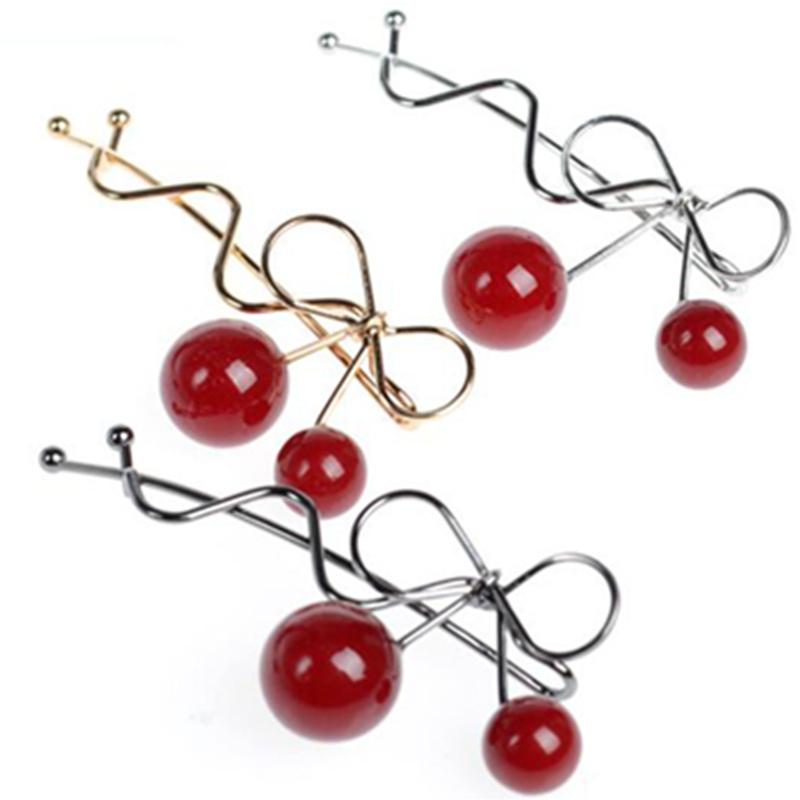 2 Pcs/Lot Fashion Cherry Women Hair Clip Headband Hairpin Hair Pin Clips Girls Hair AccessoriesОдежда и ак�е��уары<br><br><br>Aliexpress