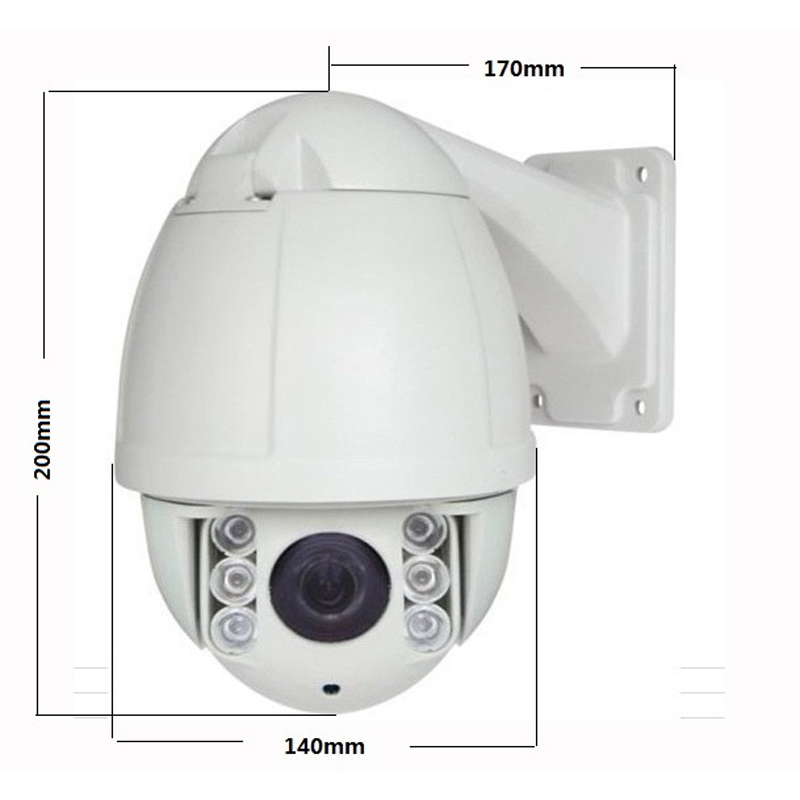 Free Shipping 1080P 2MP 10X optical zoom outdoor Mini Onvif network PTZ IP camera poe high speed dome with mobile phone access(China (Mainland))