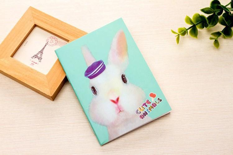 1Pcs Agenda Cartoon Creative Notepad Office Supplies School Animal Filofax Notebook Diary Stationery Pig Rabbit Alpaca K6734