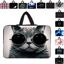 Fashion dress with sunglasses cute cat 9.7 10.1 10.2 10 inch Sleeve Case Anti-Shock computer bags For Ipad Air 9.7 Dell Xps Acer(China (Mainland))