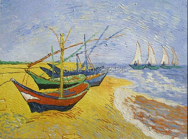 Online buy wholesale fishing boats painting from china for Fishing boat painting