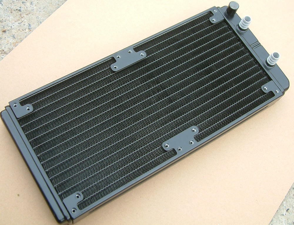Magicool 2X140mm(280,also can use for 240mm) aluminium Water cooling Radiator,concentrated fins(China (Mainland))