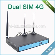 support VPN YF360D Series 4G dual sim LTE router for Substation ATM KIOSK(China (Mainland))
