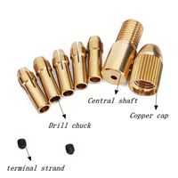 0.5-3mm Small Electric Drill Bit Collet Micro Twist Drill Chuck Set