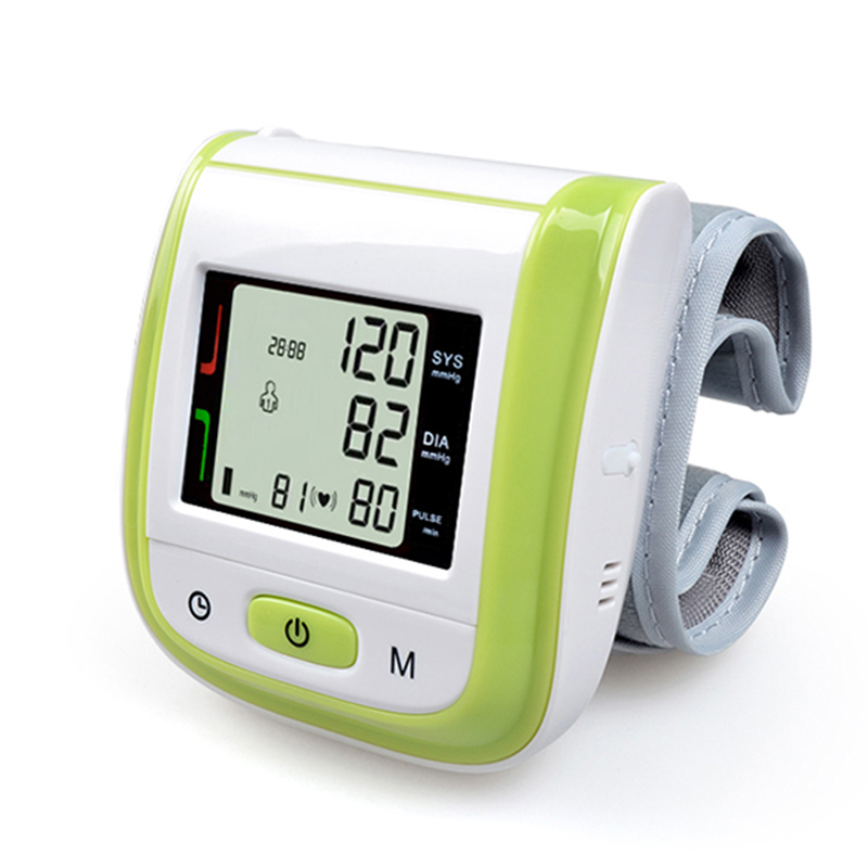 2017 New!! Automatic Digital Wrist Blood Pressure Monitor Meter Cuff Blood Pressure Measurement Health Monitor Sphygmomanometer