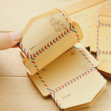 Free shipping 50 pcs/set Mini Retro Vintage Kraft Paper Envelopes Cute Cartoon Kawaii Paper Korean Stationery Gift(China (Mainland))