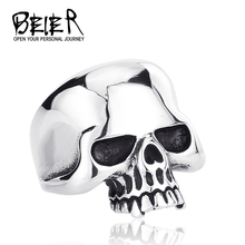 One Piece For Sale Men's 2014 Fashion Punk Smooth Paver Skull Rings Man 316L Stanless steel Fashion Jewelry