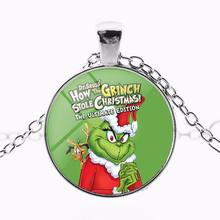 O Grinch Crianças Colar 2018 de Natal Jóias Presente para Meninas Dos Meninos da Criança Crianças Dos Desenhos Animados do Monstro Melhores Amigos Colar Pingente(China)