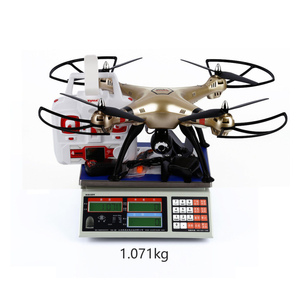 1pcs Syma X8HW WIFI FPV Real-time RC Helicopter Headless Drone With 1MP HD Camera 2.4Ghz 6 Axis Gyro Remote Control Quadcopter