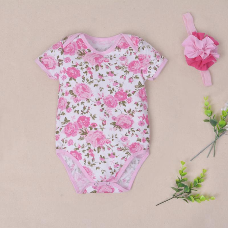 Newborn Short Sleeve Bodysuit Cotton Baby Girls Body Carters Original Clothing Bebe Jumpsuit & Headband Kids Triangle Kazakhstan(China (Mainland))
