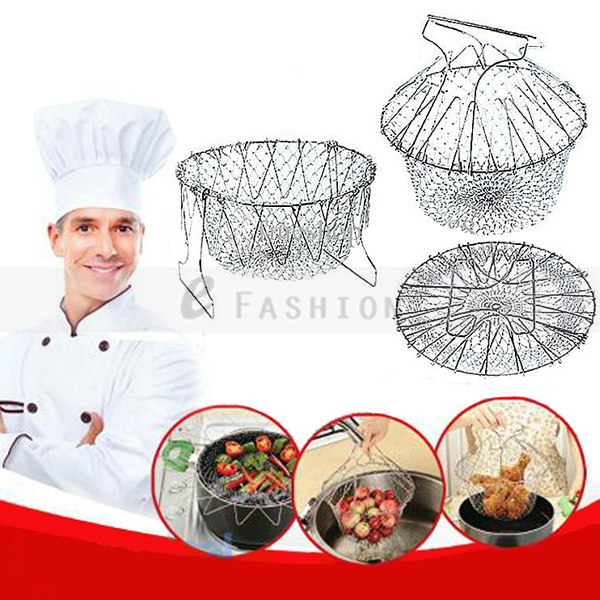 Free Shipping ! Kitchen Chef Basket/Chef Basket Deluxe Kitchen Colander Cooking Expandable as seen on TV 302-0219(China (Mainland))