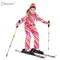 Detector Girls Ski Suit Waterproof Kids Ski Jacket Ski Pants thermal boys Phibee high quality Winter