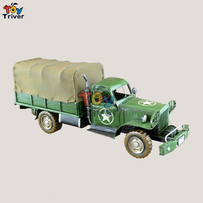 Home Office shop Decor handmade American military truck model creative vintage craft boyfriend Valentine's gift toy(China (Mainland))