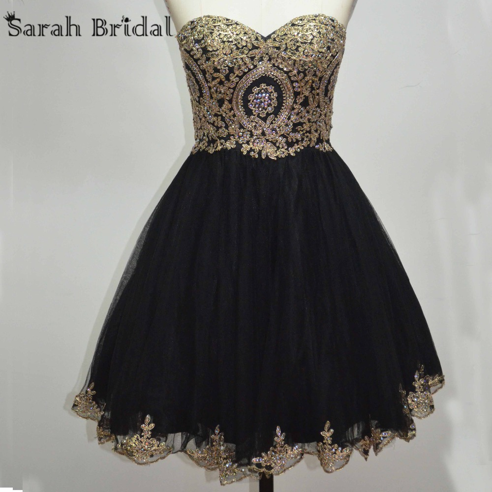 black and gold short prom dresses online get cheap black