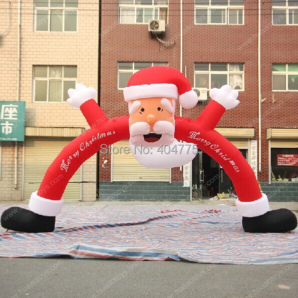 Inflatable Santa Claus Arch,Christmas arch,Outdoor Christmas Decorations,outdoor christmas inflatables(China (Mainland))