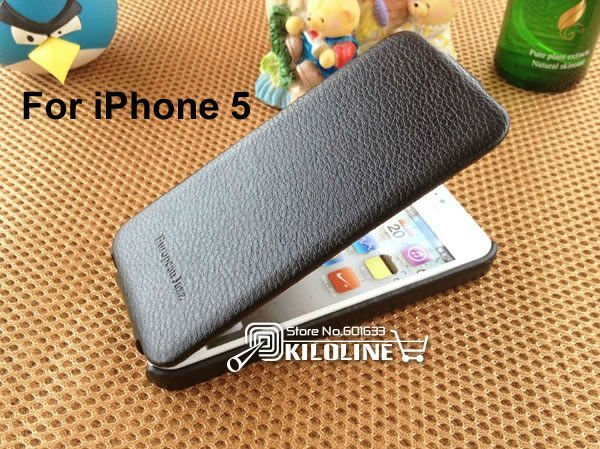 Original PCARO Litchi Pattern Cow Leather case for iphone 5 5S