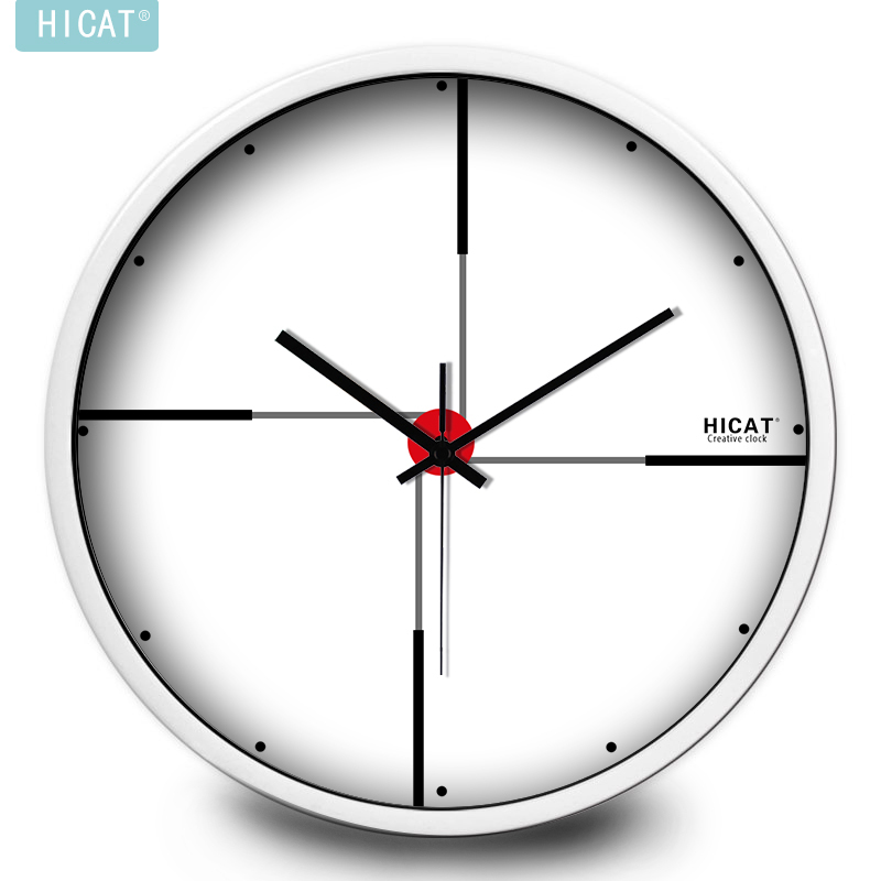 HICAT crazy kitten minimalist white wall clock bedroom living room European-style classroom IKEA applicable silent watch(China (Mainland))