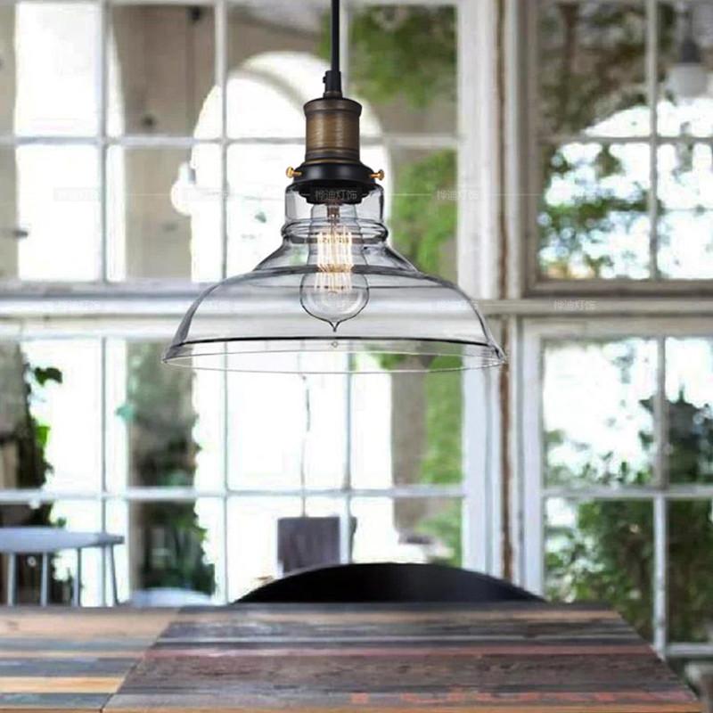 Vintage Creative Rustic Northern Crystal Bowl Pendant Lights Rh Loft Industries Bar Kitchen