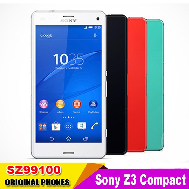 "Original Unlocked Sony Z3 Compact Z3 mini D5803 d5833 GSM 3G WCDMA Android 4.4 Quad-Core 4.6"" inch 2GB RAM 16GB ROM(China (Mainland))"