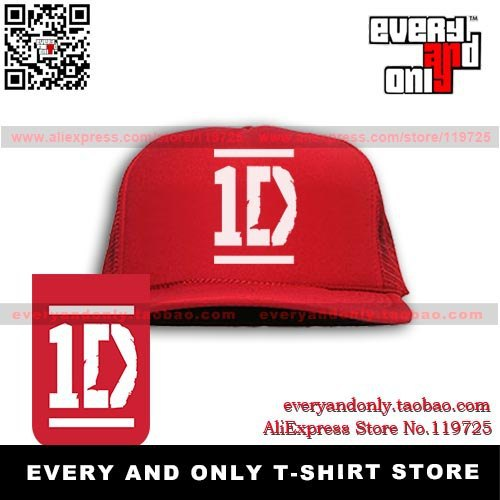 Free Shipping 1D One Direction Logo mesh cap truck caps mesh cap truck caps hats multicolor Hot-selling free adjustable(China (Mainland))