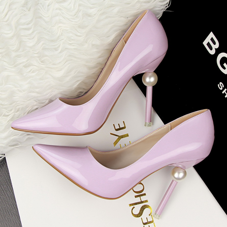 10.5cm sexy pearl thin heels pump high heels 6 colors womens shoes wedding shoes for ladies valentine italian shoe