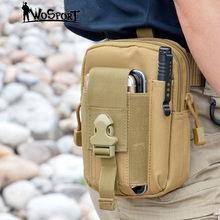 Molle Military Tactical Waist Bag Men EDC Army Fanny Pack Casual 5.7 inch Mobile Phone Belt Bag Outdoor Travel Sport Waist Pack