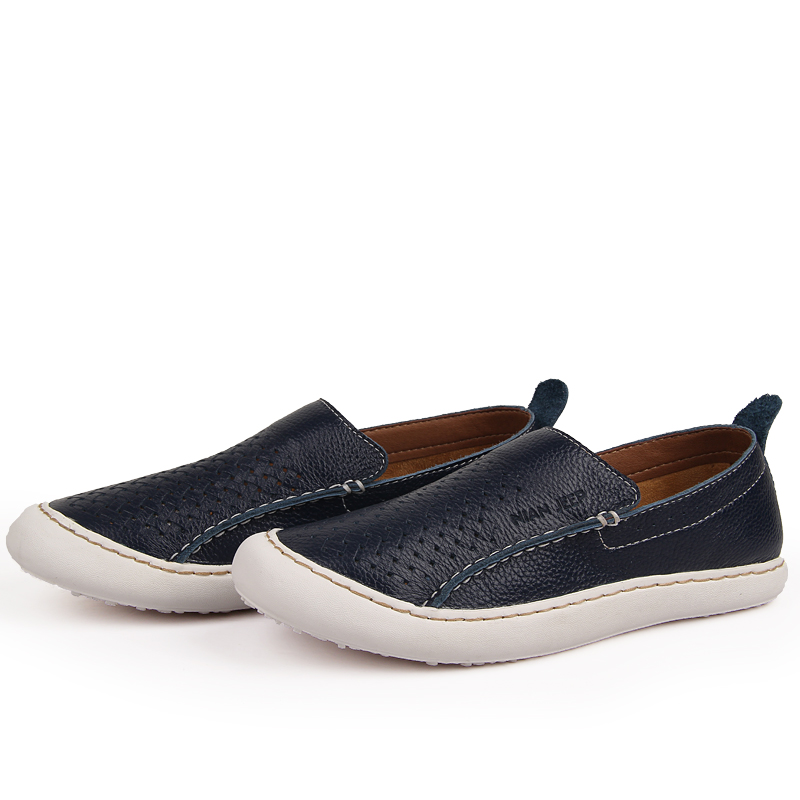 Pure handmade sewing italian genuine leather shoes men Best quality breathable comfortable leisure mens casual flat men loafers<br><br>Aliexpress
