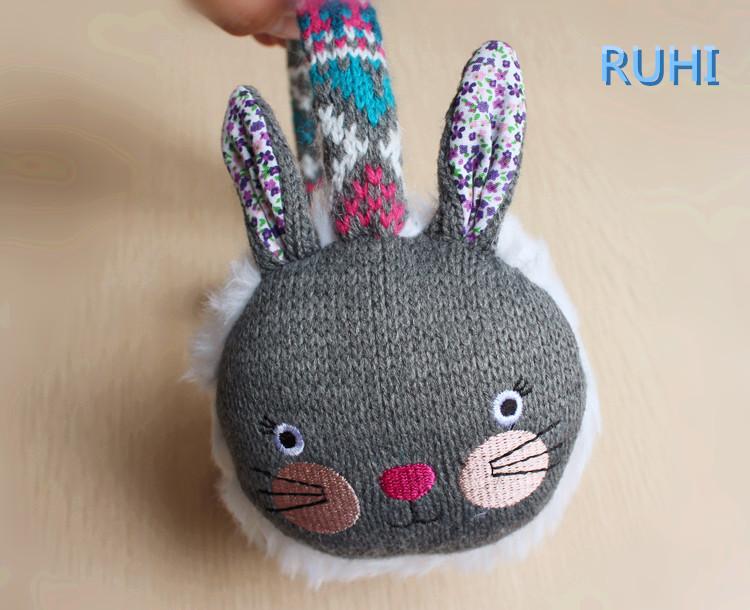 1pcs 2016 the children winter earmuffs for boys girls Cartoon children knitted plush earmuffs Warm earmuff(China (Mainland))