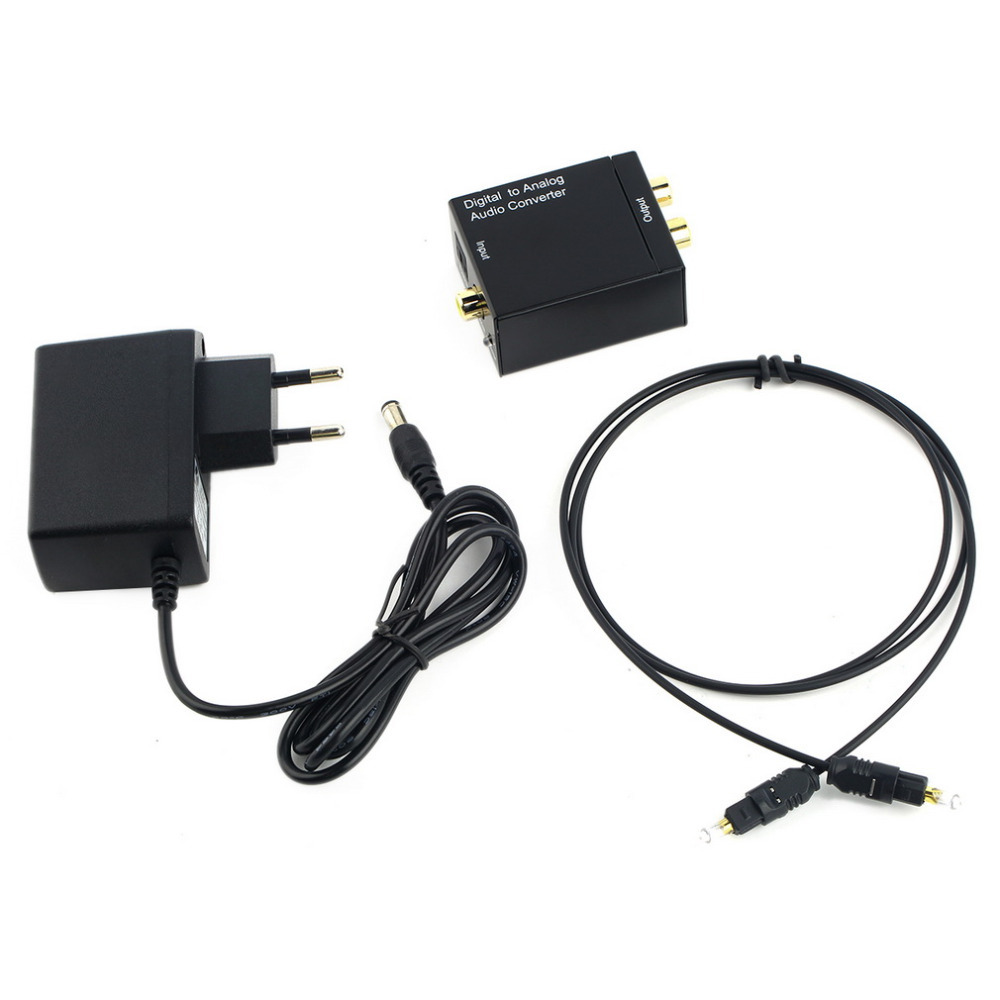 New Digital Optical Coaxial Toslink Signal to Analog Audio Converter Adapter RCA(China (Mainland))