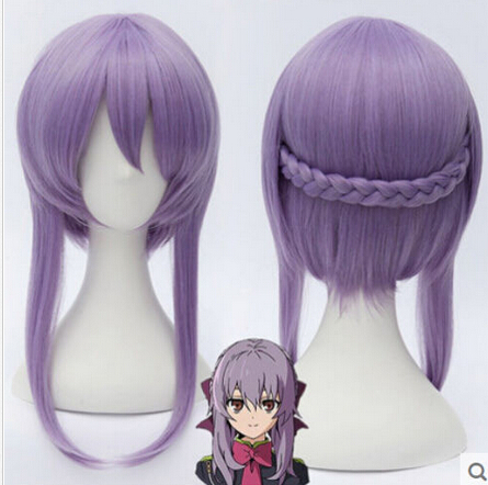 shun peruca hair queen cosplay dd003398 New Cosplay wig lavender Put an end to the blazing angels Short Wigs (D discount 35%)(China (Mainland))