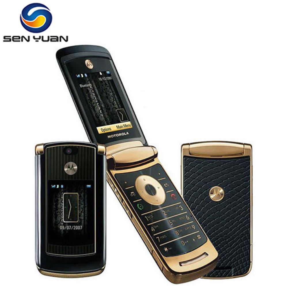 Original Unlocked Motorola V8 Mobile Phone 2MP Camera 512MB/2GB ROM Russian keyboard support Flip V8 cellphone(China (Mainland))