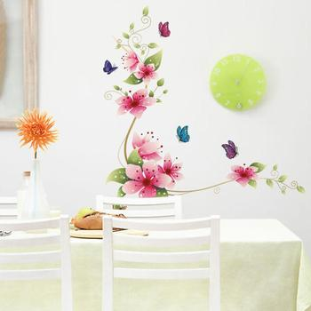 Flower Butterfly Monster Wall Paper Decals Removable adesivo de parede Wall Sticker Home decoration