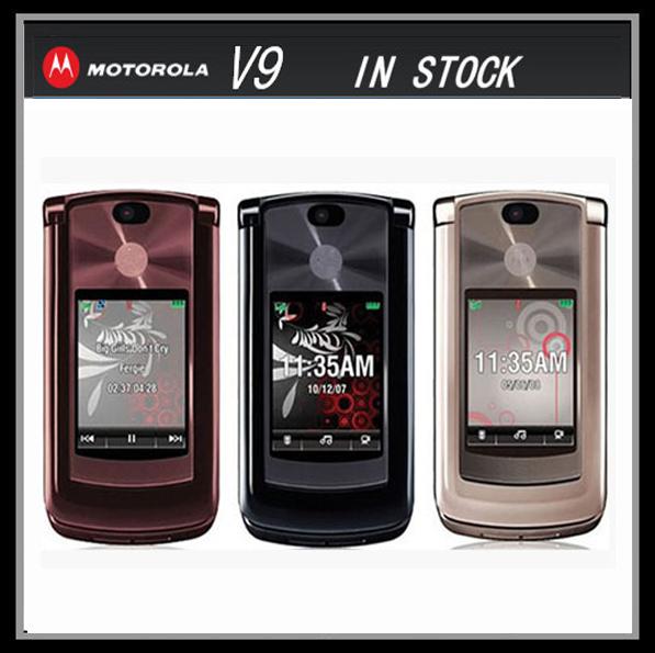 V9 original unlocked Motorola RAZR2 V9 mobile phones have English&Russian Keyboard Russian Menu Support(China (Mainland))