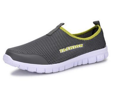 Men Shoes Fashion 2016 Summer Comfortable Sport Casual Mesh Breathable Plus shoes woman Size 34-46 - Adult shop store