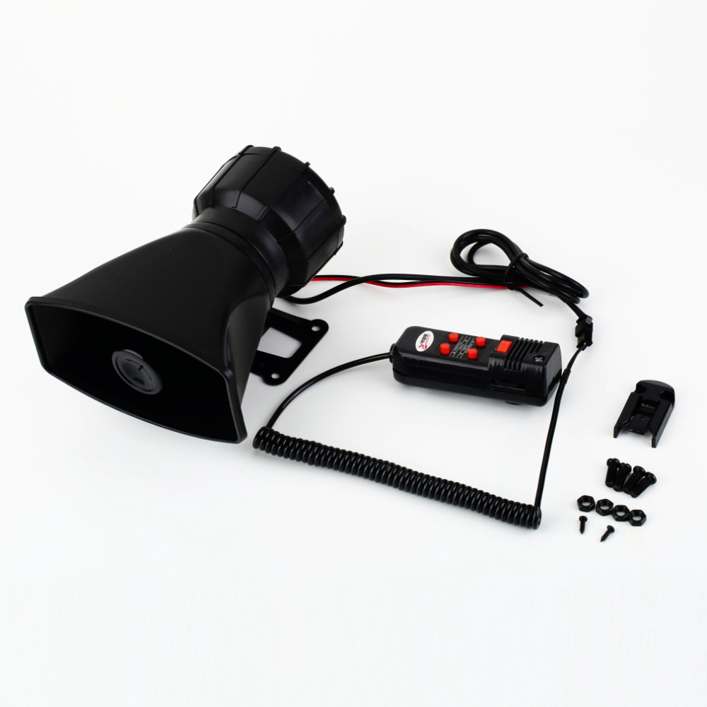 1pcs Hot Worldwide Van Truck PA System 60W Loud Horn 12V Car Siren Auto  Max 300dB 5 Sounds tone(China (Mainland))
