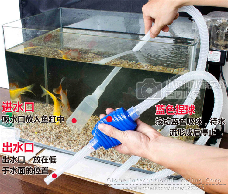 aquarium Fish tank changing water pipe Suction device 165cm water pumping tube clean tool suction device Washing sand tube(China (Mainland))