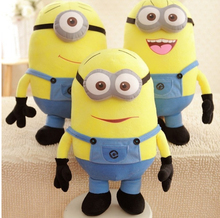 Big Size 20Inch/50CM 3D Despicable ME Movie Plush Toy Minions Stuffed Doll Plush Doll Toys & Hobbies One PCS 3D Eyes Good Gift(China (Mainland))
