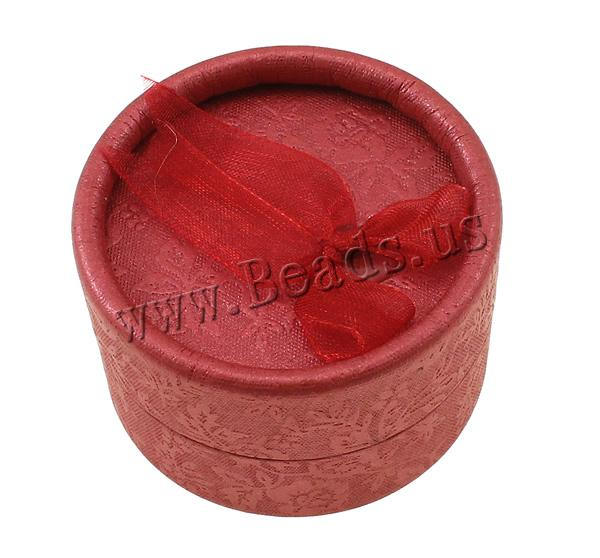 Free shipping Wholesale creative Jewelry Supplier luxury wedding gift box packaging Flat Round Velveteen Cardboard Ring Box(China (Mainland))