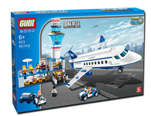 2015 New GUDI International Airport Air Building Blocks 8912 Series Of Children's Educational Assembling Building Blocks 652Pcs(China (Mainland))