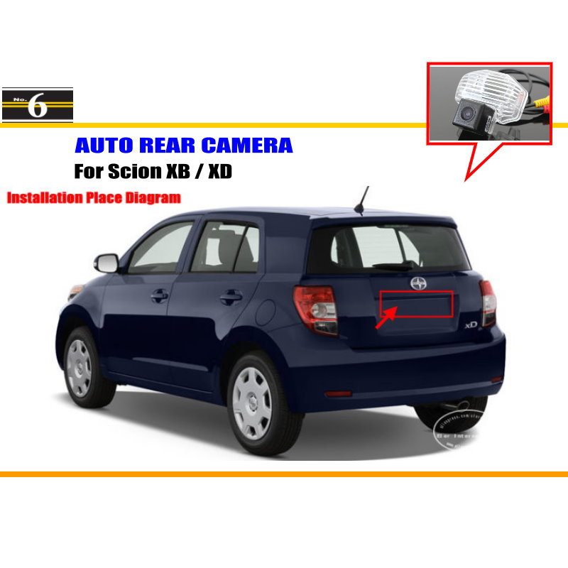 For Scion XB / XD - Rear View Camera / Back Up Park Camera / HD CCD RCA NTST PAL / License Plate Light OEM(China (Mainland))