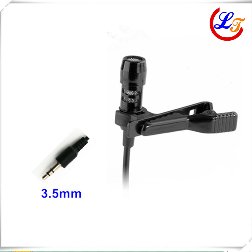 Professional Lavalier Stereo Condenser Microphone Mini Microfone for Computer Laptop Amplifier 3.5mm Stereo Noise Canceling(China (Mainland))