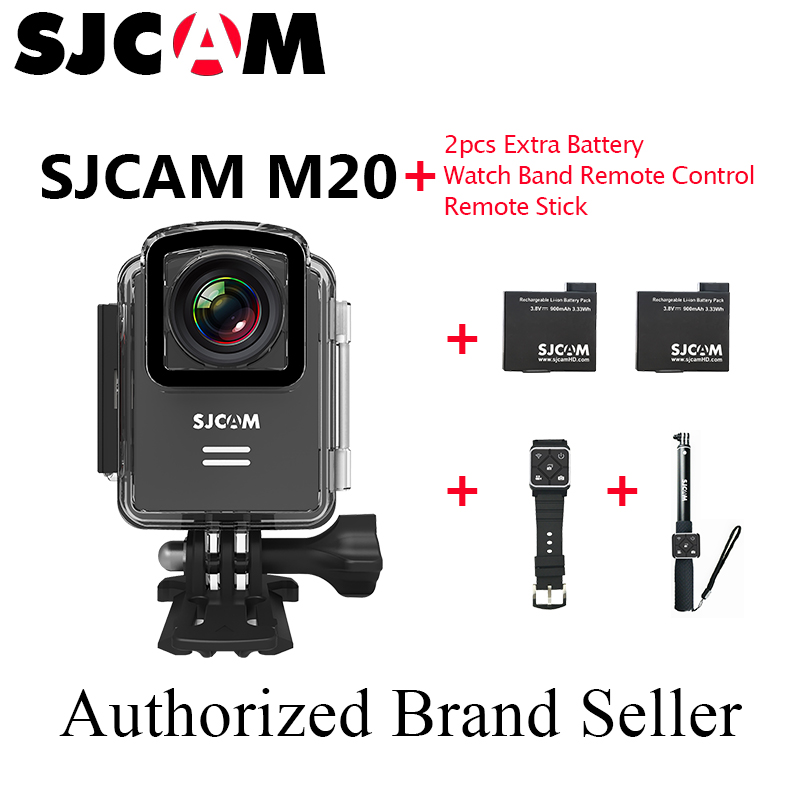 Stock!SJCAM M20 HD 1080P 4K 16MP Mini Action WIFI Sports Cameras DV 30M Waterproof Car DVR With Watch+Monopod Remote +2Batteries(China (Mainland))